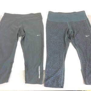 2 Pair Women's Nike Dri Fit Capris